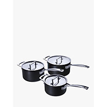 Buy Le Creuset Professional Hard Anodised 3-Piece Saucepan Set Online at johnlewis.com