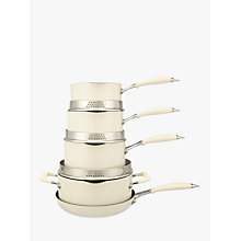 Buy John Lewis 'The Pan' Pan Set, 5 Piece, Vanilla Online at johnlewis.com