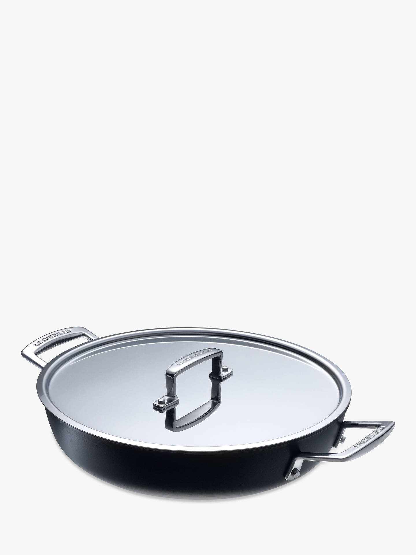 BuyLe Creuset Professional Hard Anodised Shallow Casserole, 28cm Online at johnlewis.com