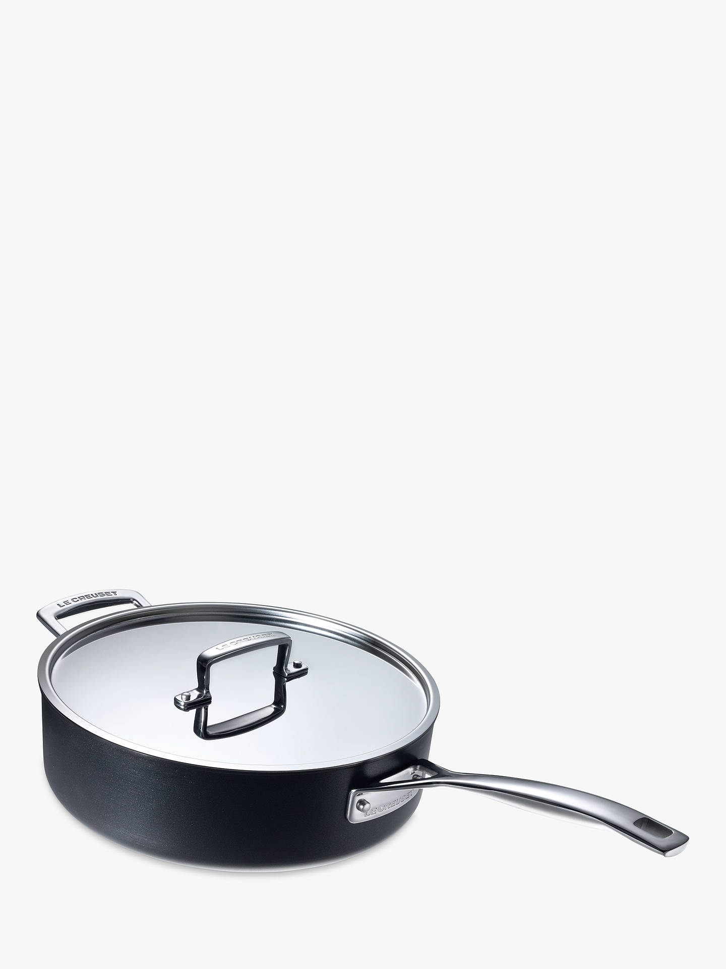Buy Le Creuset Professional Hard Anodised Saute Pan, 26cm Online at johnlewis.com