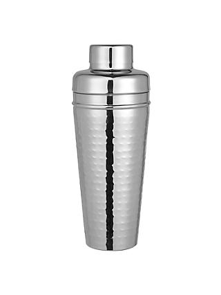 John Lewis & Partners Hammered Stainless Steel Cocktail Shaker