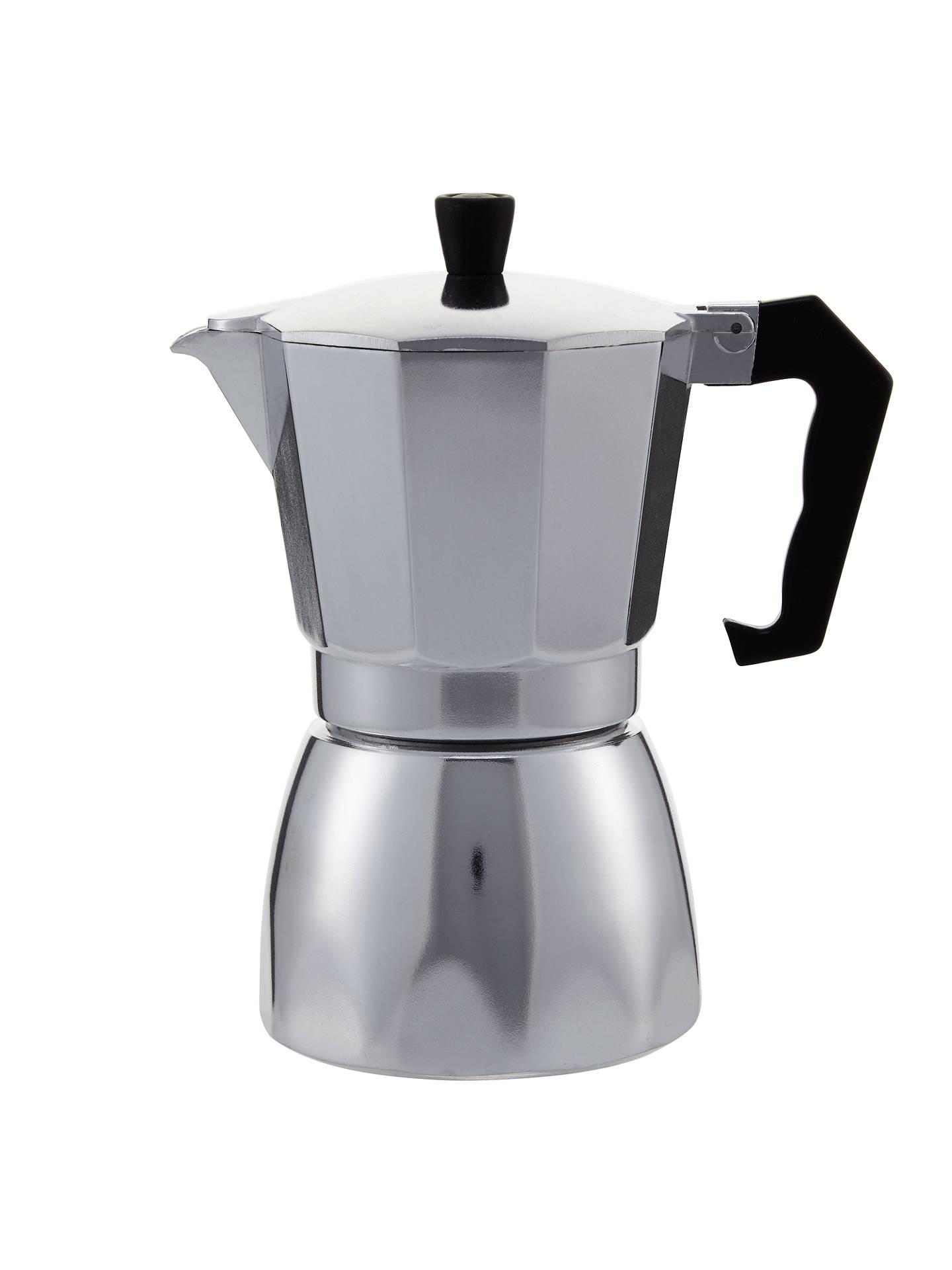 John Lewis Partners Espresso Silver Cafetiere 6 Cup