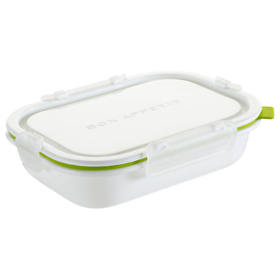Black and Blum Rectangle Lunch Box