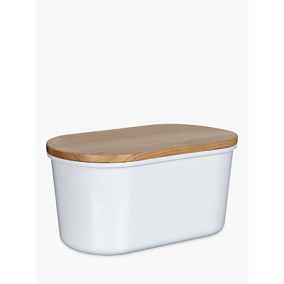 House by John Lewis Melamine Bread Bin with Wood Lid