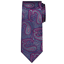 Buy Richard James Mayfair Paisley Silk Tie, Navy/Black Online at johnlewis.com