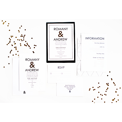 Image of Abigail Warner Ampersand Personalised Evening Invitations, Pack of 40