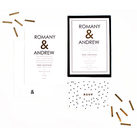 Buy Abigail Warner Ampersand Personalised Day Invitations Online at johnlewis.com
