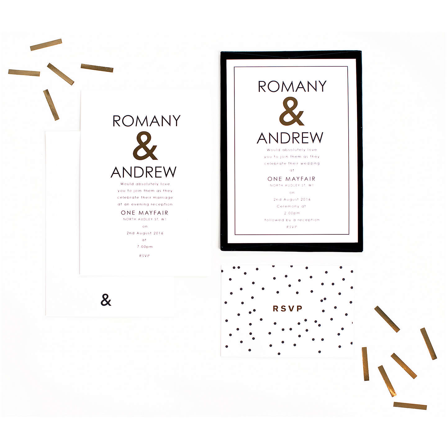 BuyAbigail Warner Ampersand Personalised Day Invitations, Pack of 40 Online at johnlewis.com