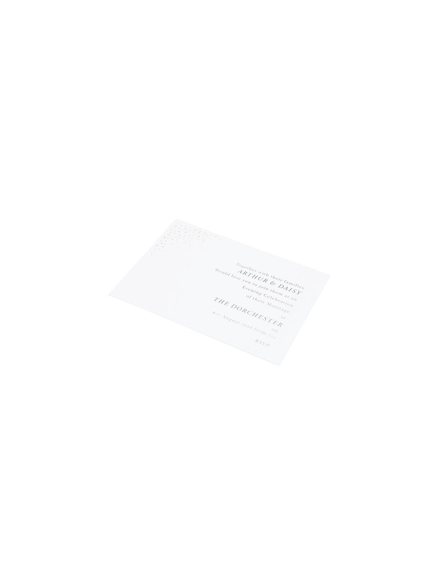 BuyAbigail Warner Champagne Bubbles Personalised Evening Invitations, Pack of 40 Online at johnlewis.com
