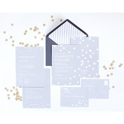 Image of Abigail Warner Confetti Personalised Evening Invitations