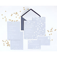 Buy Abigail Warner Confetti Personalised Evening Invitations Online at johnlewis.com