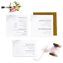 Buy Abigail Warner Champagne Bubbles Personalised Information Sheets, Pack of 60 Online at johnlewis.com