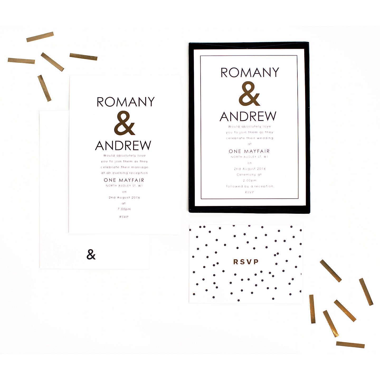 Abigail Warner Ampersand Personalised RSVP Cards at John Lewis