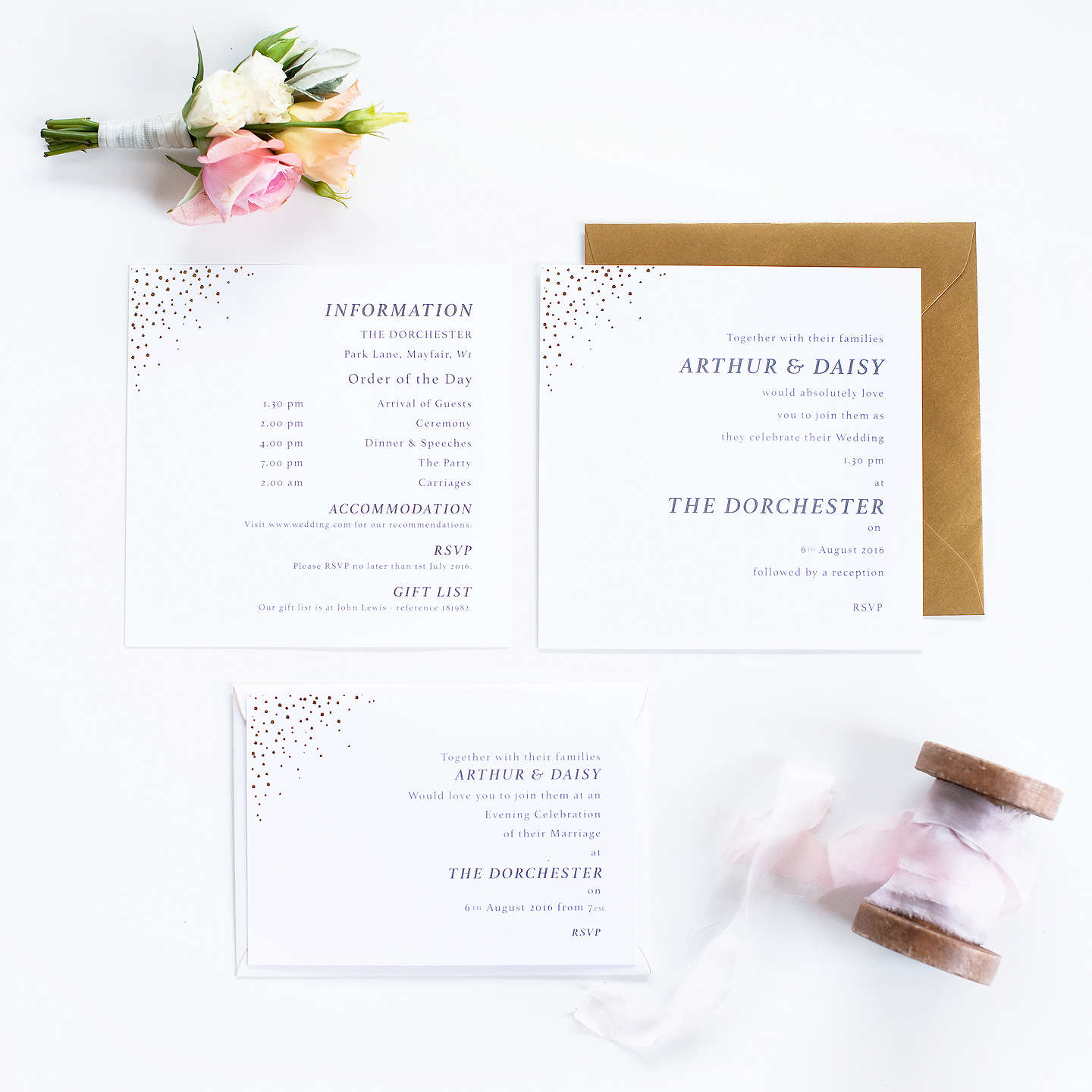 Abigail Warner Champagne Bubbles Personalised Day Invitations at ...