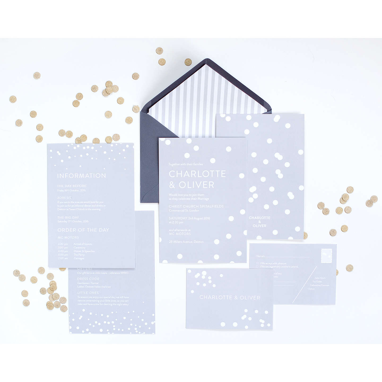 Abigail Warner Confetti Personalised Day Invitations at John Lewis