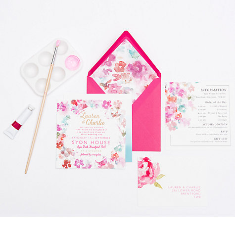 Buy Abigail Warner Summer Meadow Day Personalised Invitations Online at johnlewis.com