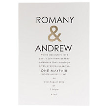 Buy Abigail Warner Ampersand Personalised Evening Invitations, Pack of 60 Online at johnlewis.com