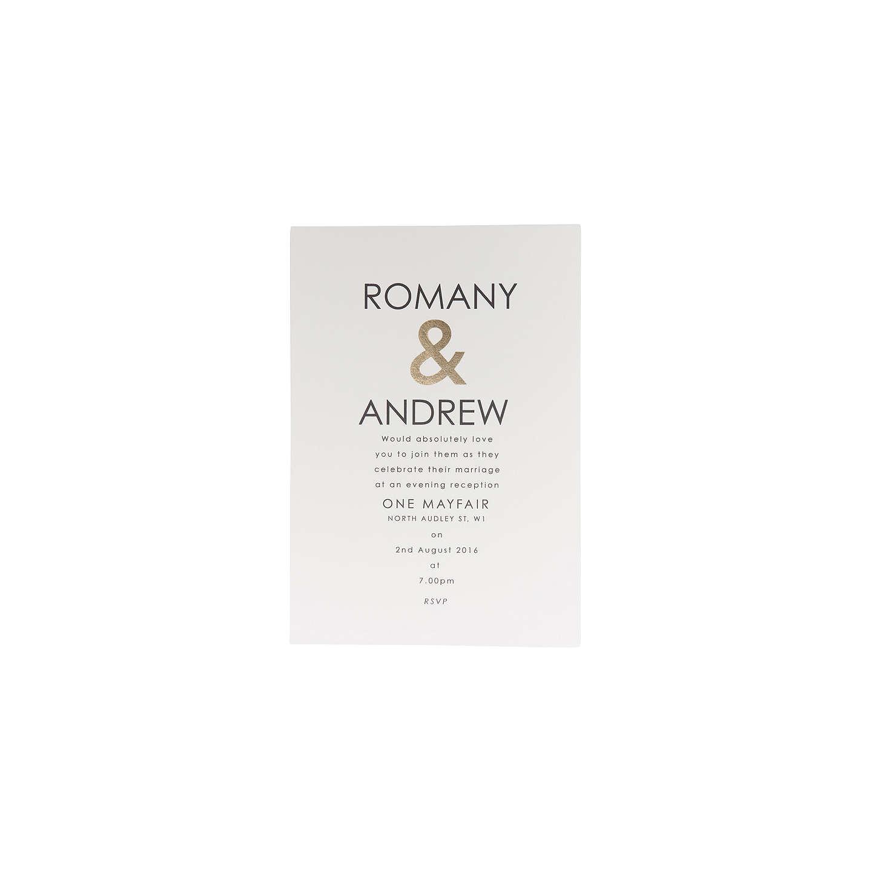 Abigail Warner Ampersand Personalised Evening Invitations, Pack of ...