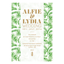 Buy Abigail Warner Tropical Personalised Day Invitations Online at johnlewis.com
