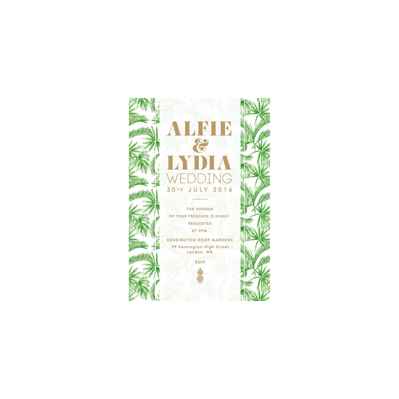 Abigail Warner Tropical Personalised Day Invitations at John Lewis