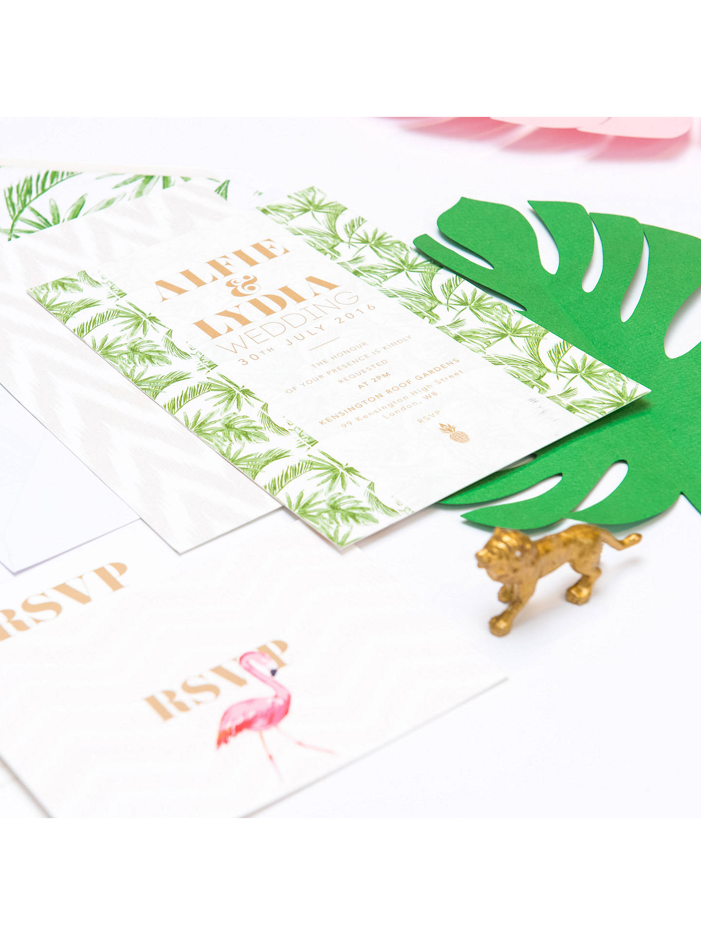 Buy Abigail Warner Tropical Personalised Day Invitations, Pack of 40 Online at johnlewis.com