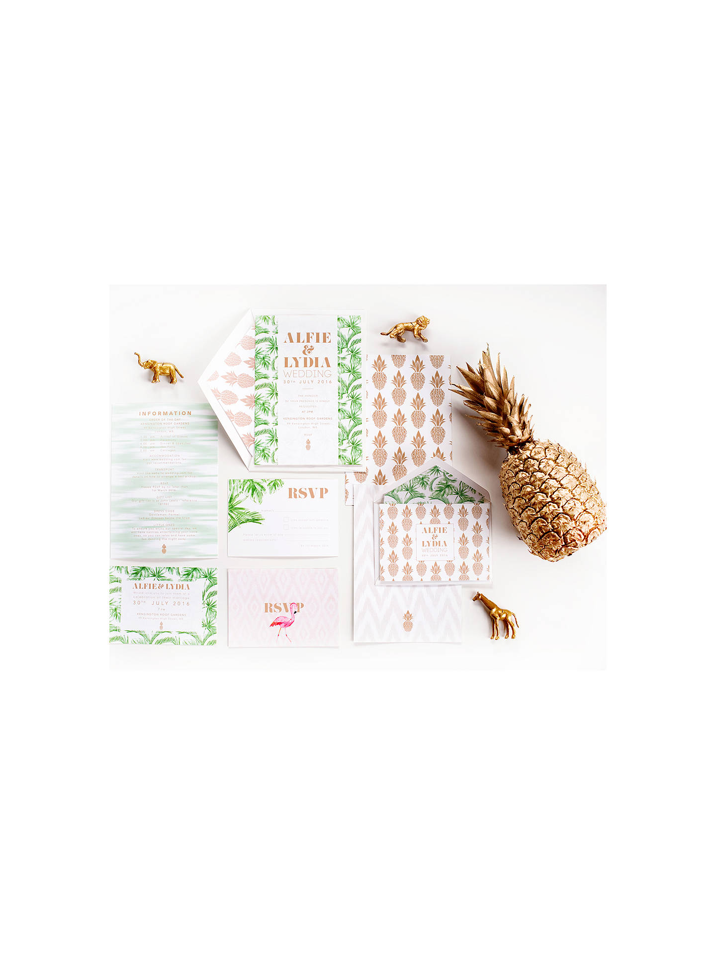 BuyAbigail Warner Tropical Personalised Information Sheets, Pack of 40 Online at johnlewis.com