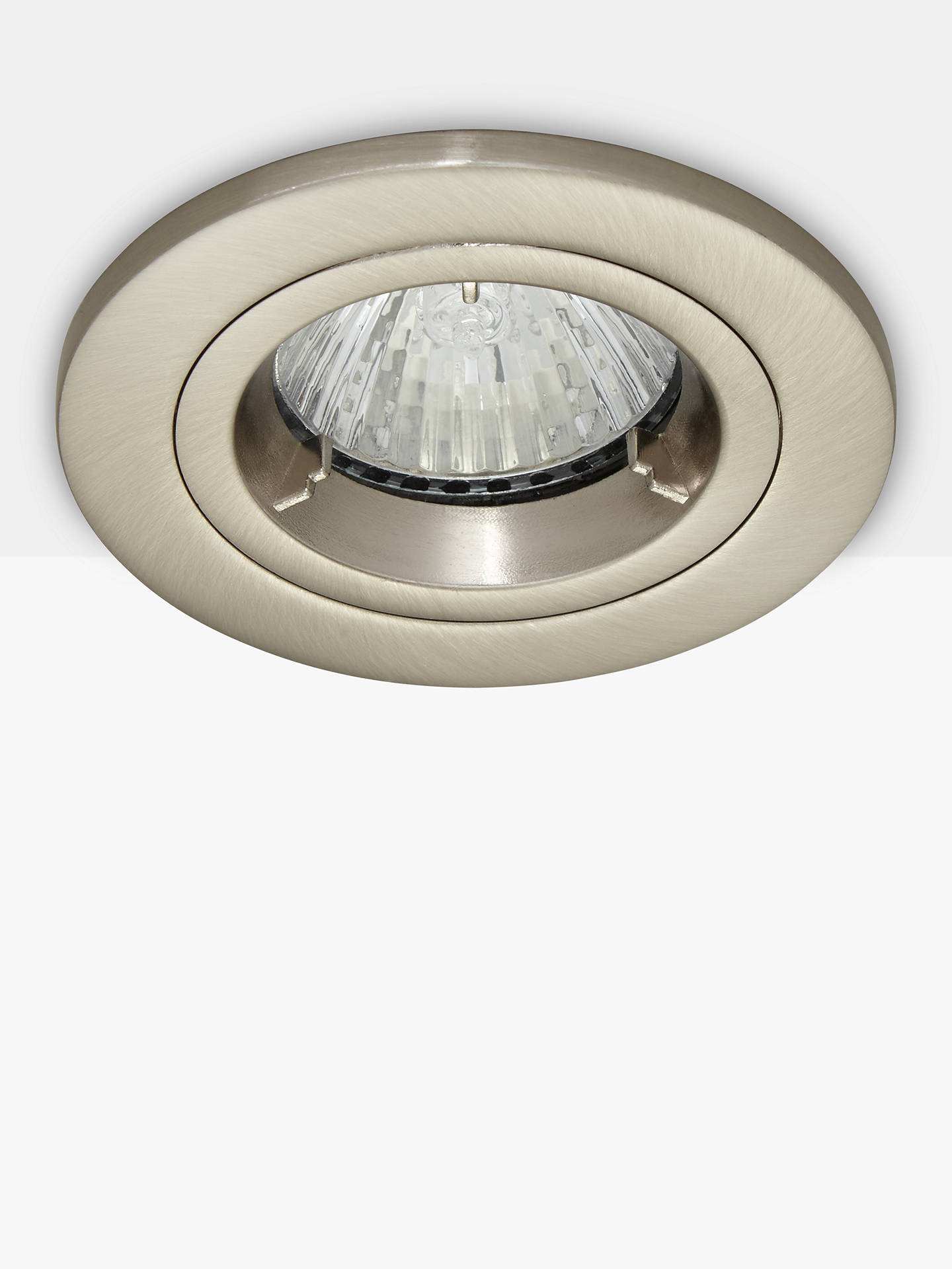 BuySaxby Recessed Shield MV Tilt Spotlight, Satin/Silver Online at johnlewis.com