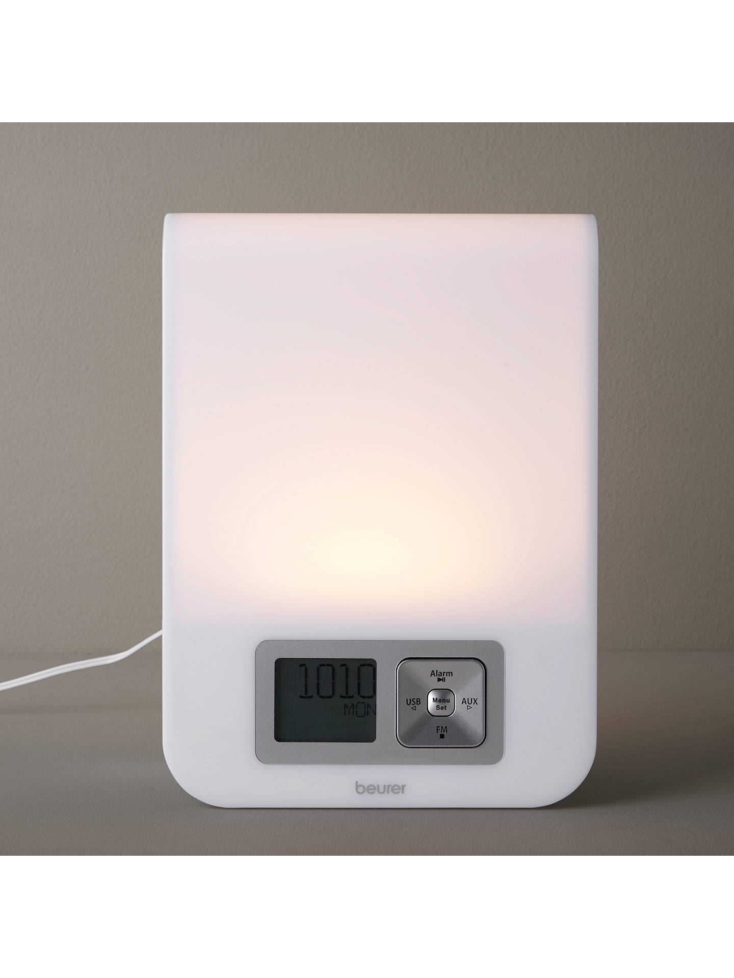 Beurer Wake Up Light.Beurer Sad Wake Up To Dawn Simulator Light With Alarm Clock White