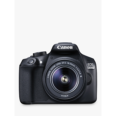Image of Canon EOS 1300D Digital SLR Camera With 18-55mm Lens, HD 1080p, 18MP, Wi-Fi, NFC, 3 LCD Screen
