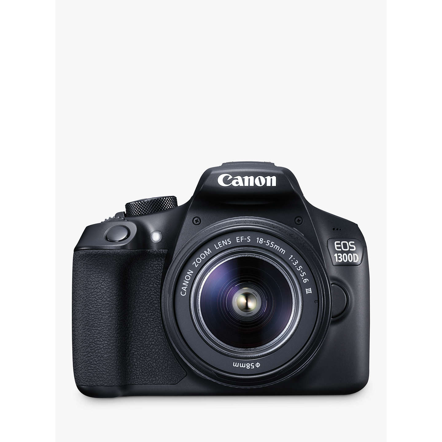 "BuyCanon EOS 1300D Digital SLR Camera With 18-55mm Lens, HD 1080p, 18MP, Wi-Fi, NFC,  3"" LCD Screen Online at johnlewis.com"