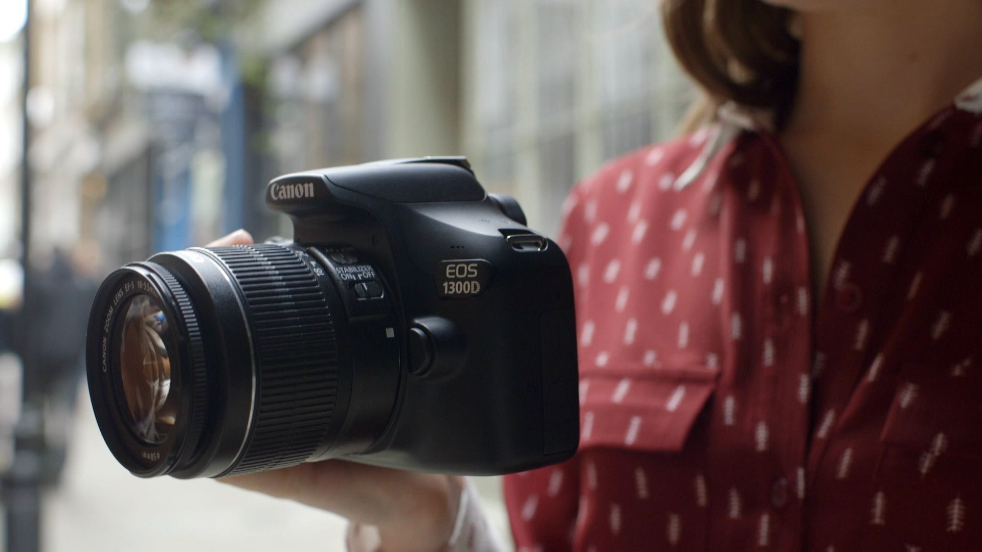 Canon Eos 1300d Digital Slr Camera With 18 55mm Lens Hd 1080p 18mp Is Ii Wi Fi Nfc 3 Lcd Screen At John Lewis Partners