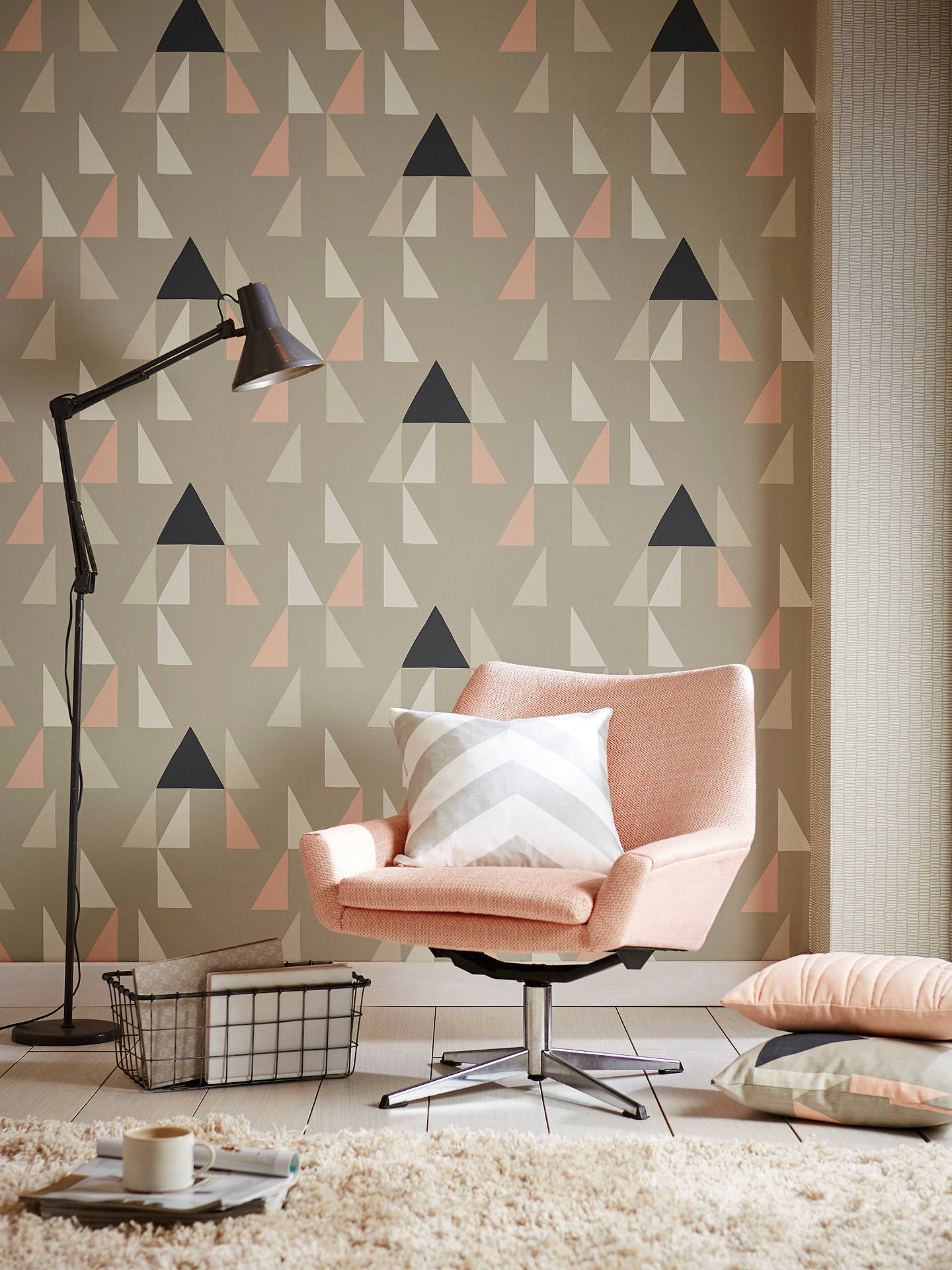 BuyScion Lohko Modul Wallpaper, Blush 111305 Online at johnlewis.com