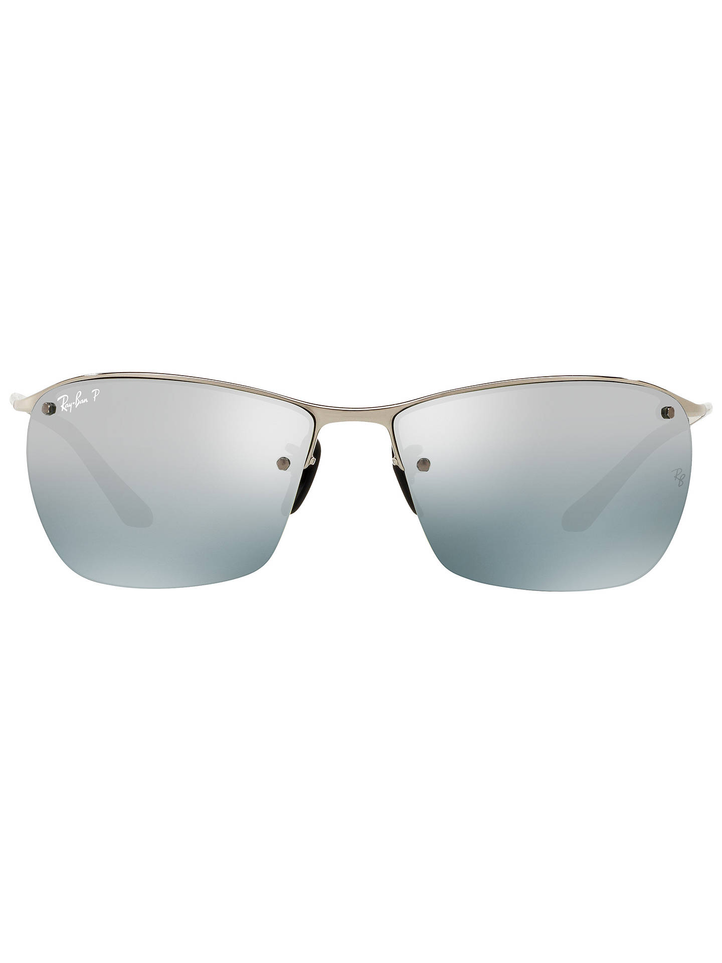 BuyRay-Ban RB3544 Polarised Chromance Rectangular Sunglasses, Silver Online at johnlewis.com