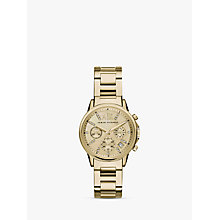 Buy Armani Exchange Women's Crystal Chronograph Date Bracelet Strap Watch Online at johnlewis.com