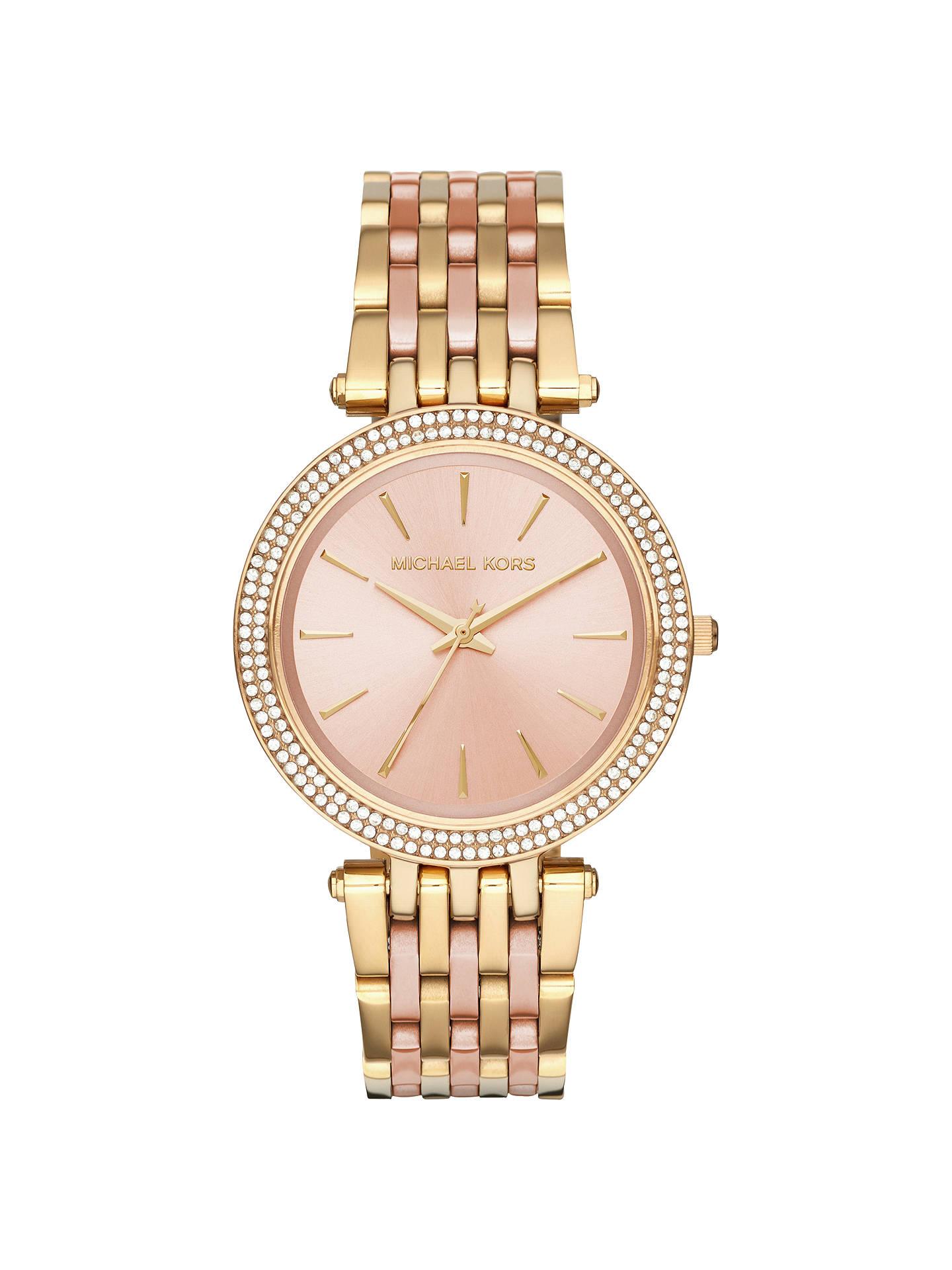 ee5e3ff6fdf3 Michael Kors MK3507 Women s Darci Two Tone Bracelet Strap Watch ...