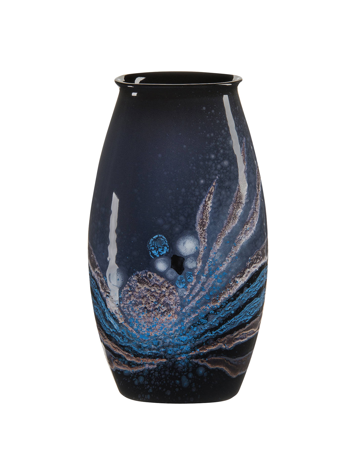 BuyPoole Pottery Celestial Manhattan Vase, H26cm, Grey/ Blue Online at johnlewis.com