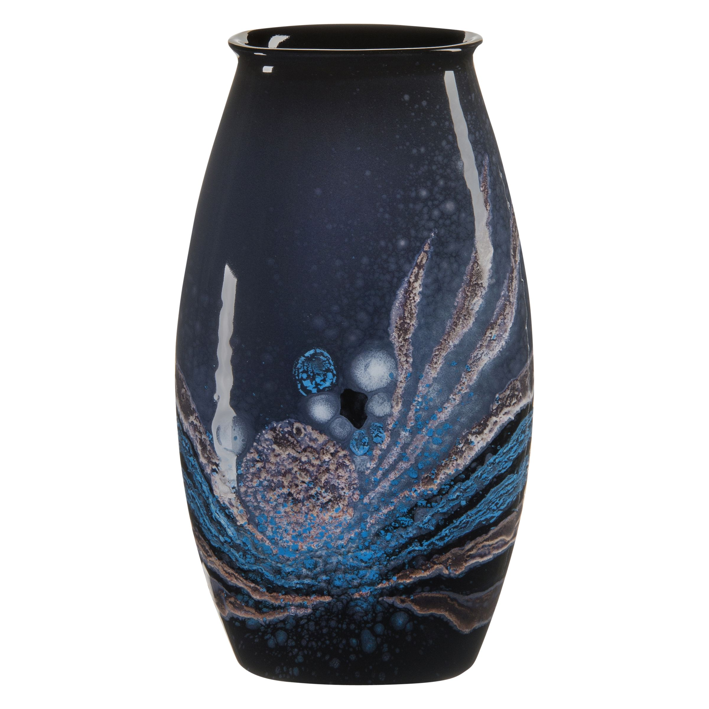 Poole Pottery Poole Pottery Celestial Manhattan Vase, H26cm, Grey/ Blue