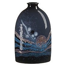 Buy Poole Pottery Celestial Medium Oval Bottle Vase, H23cm, Grey/ Blue Online at johnlewis.com