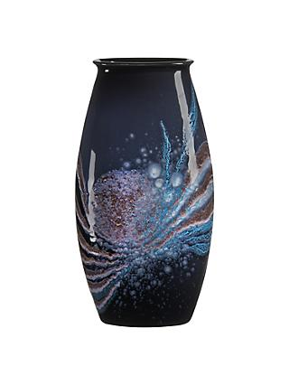 Poole Pottery Celestial Manhattan Vase, H36cm, Grey/ Blue