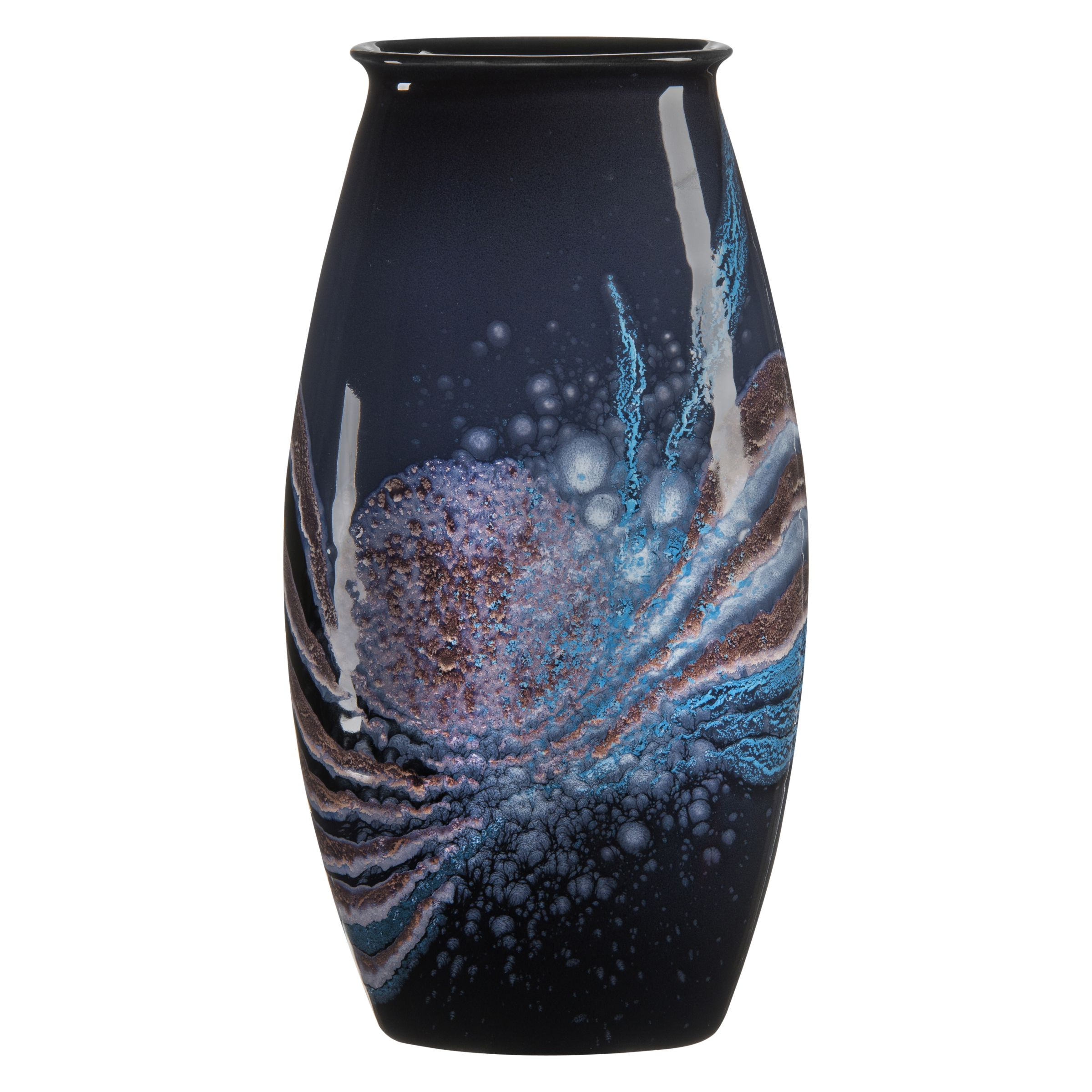 Poole Pottery Poole Pottery Celestial Manhattan Vase, H36cm, Grey/ Blue