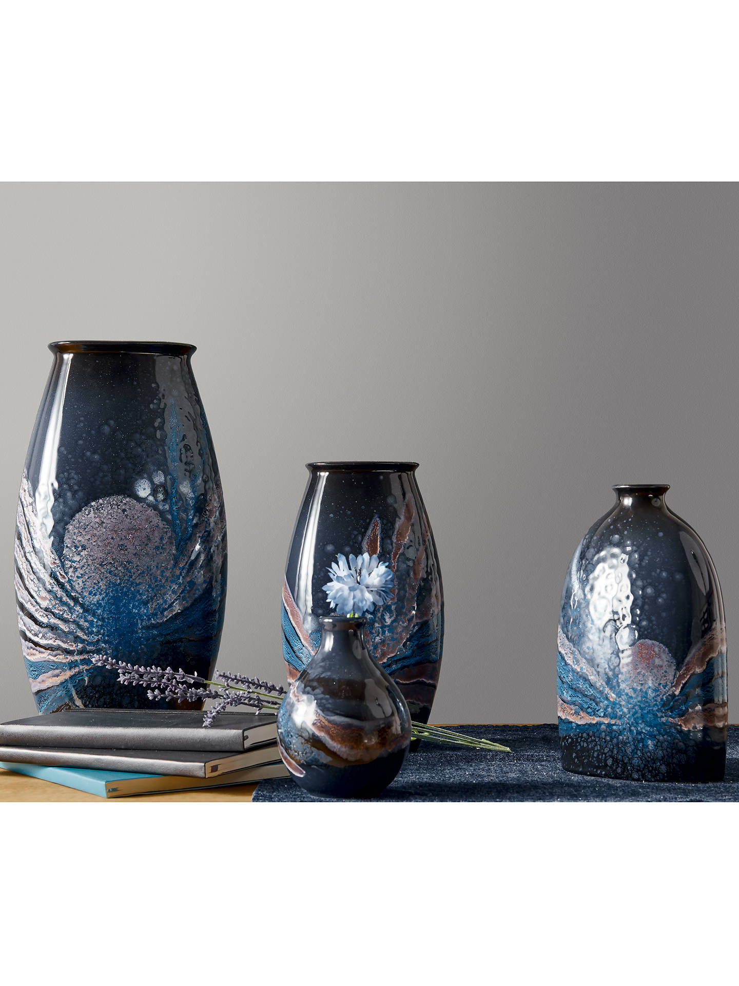 BuyPoole Pottery Celestial Manhattan Vase, H36cm, Grey/ Blue Online at johnlewis.com