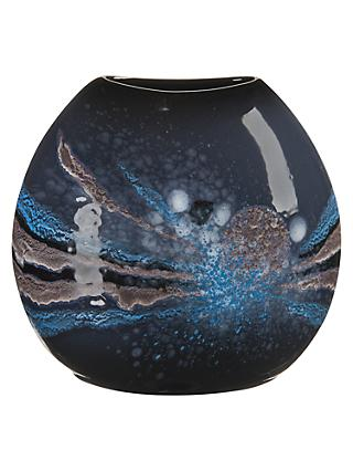 Poole Pottery Celestial Purse Vase, H20cm, Grey/ Blue