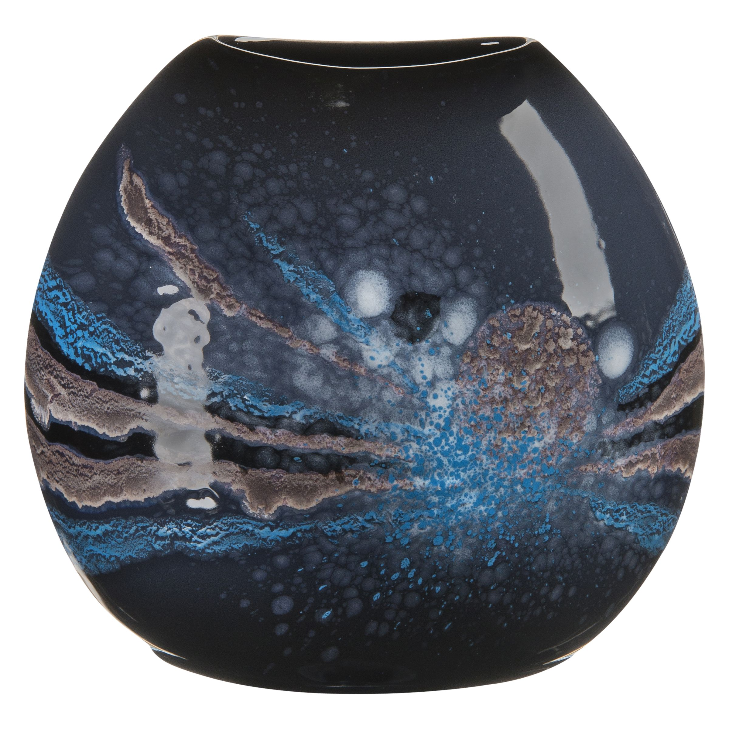 Poole Pottery Poole Pottery Celestial Purse Vase, H20cm, Grey/ Blue