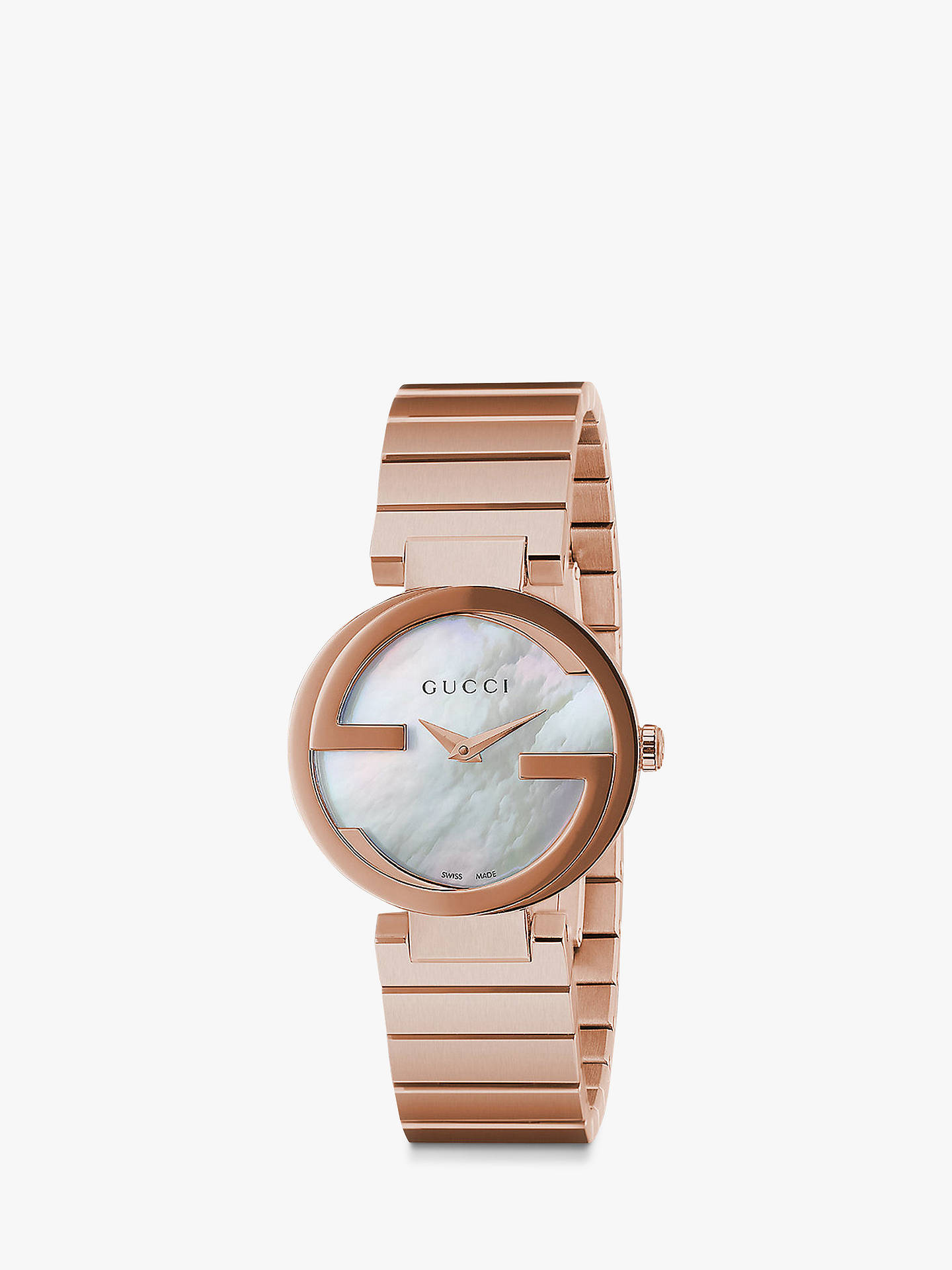 bc3bcf65ce6 Buy Gucci YA133515 Women s Interlocking-G Bracelet Strap Watch