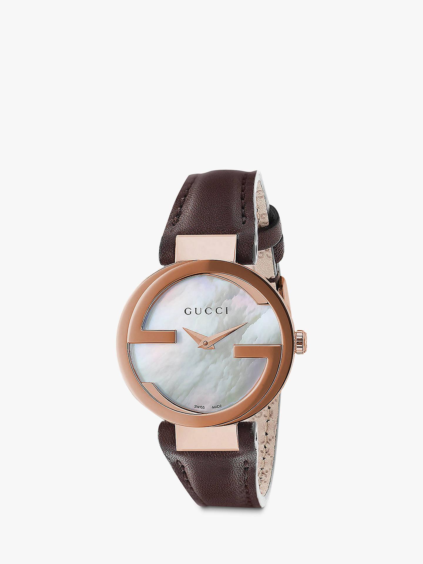 a3bc2b701d2 Buy Gucci YA133516 Women s Interlocking G Leather Strap Watch