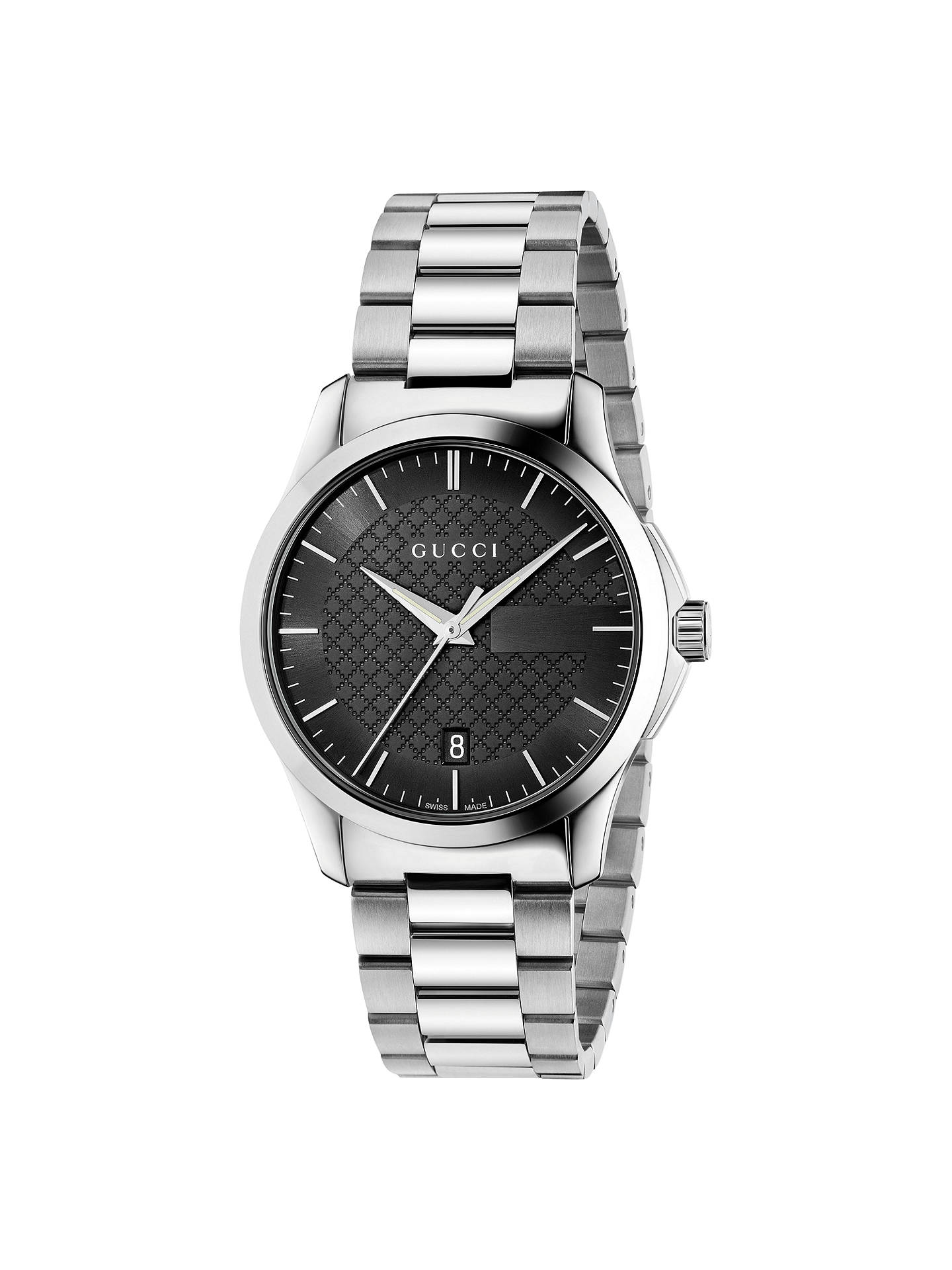 41064bc7585 Buy Gucci YA126457 Men s G-Timeless Date Bracelet Strap Watch