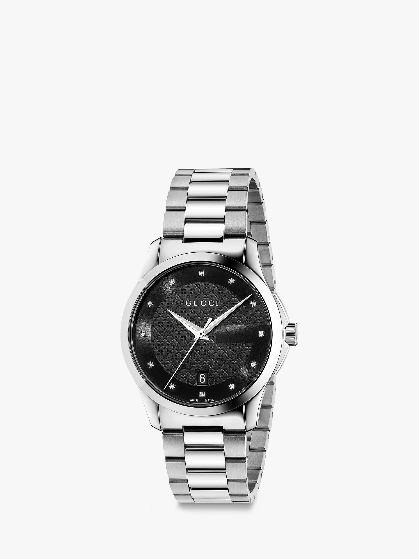 a742806d6a5 Gucci YA126456 Men s G-Timeless Diamond Date Bracelet Strap Watch ...