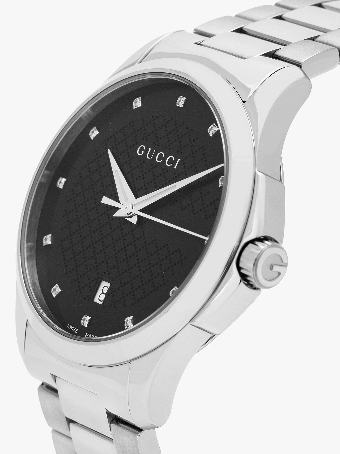 b1bba2eaf0e ... Buy Gucci YA126456 Men s G-Timeless Diamond Date Bracelet Strap Watch