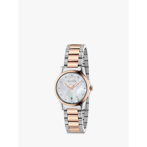 Buy Gucci YA Women s G Timeless Date Diamond Bracelet Strap