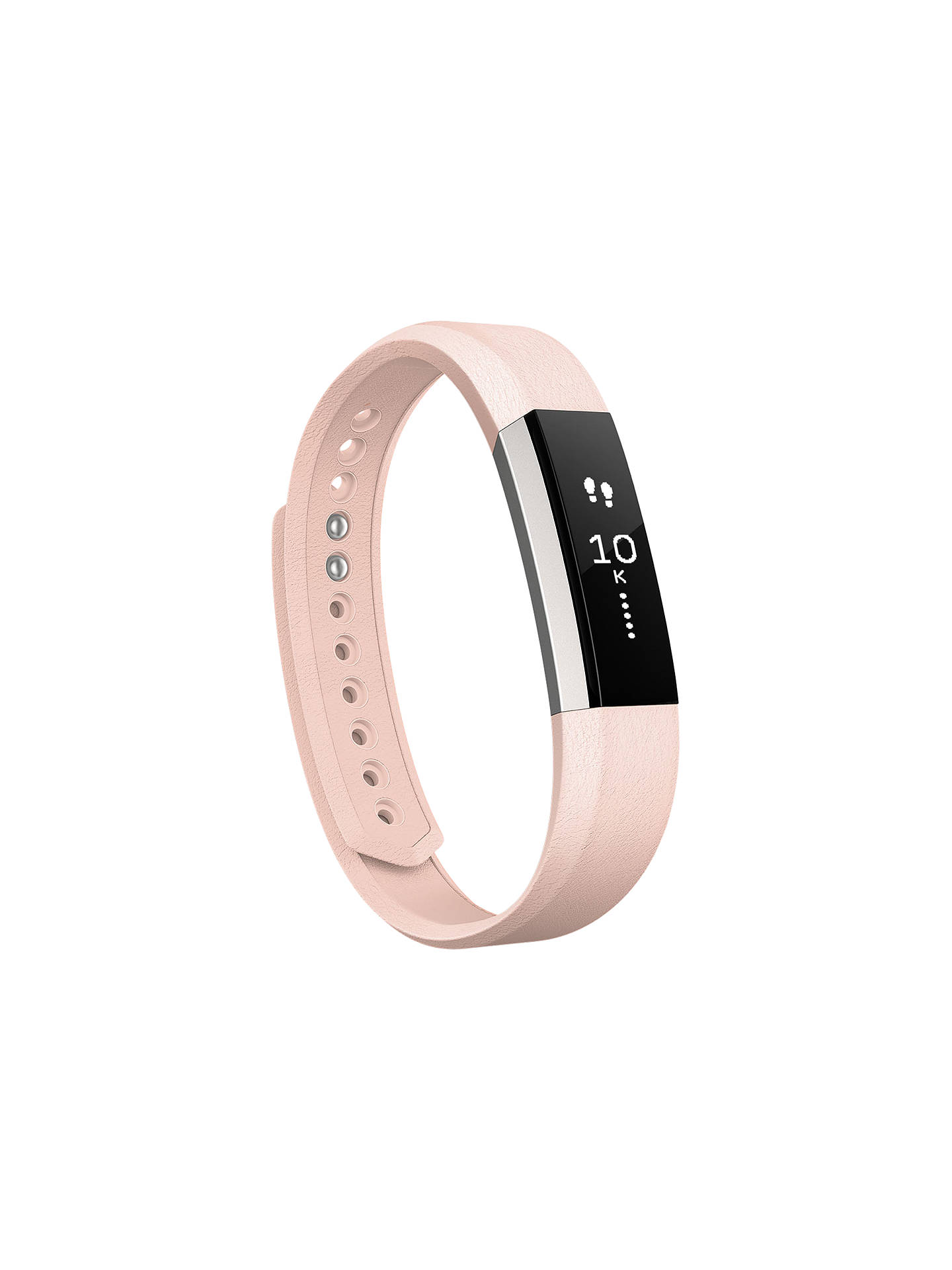 Buy Fitbit Alta Leather Wristband, Pink, Small Online at johnlewis.com